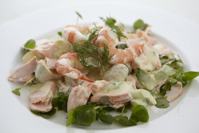 Grilled Lemon Chicken Salad With Dill Cream Dressing Recipes ...